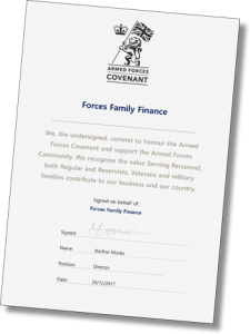 Armed Forces Covenant Certificate